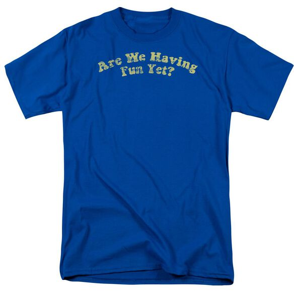 Are We Having Fun? Short Sleeve Adult Royal T-Shirt