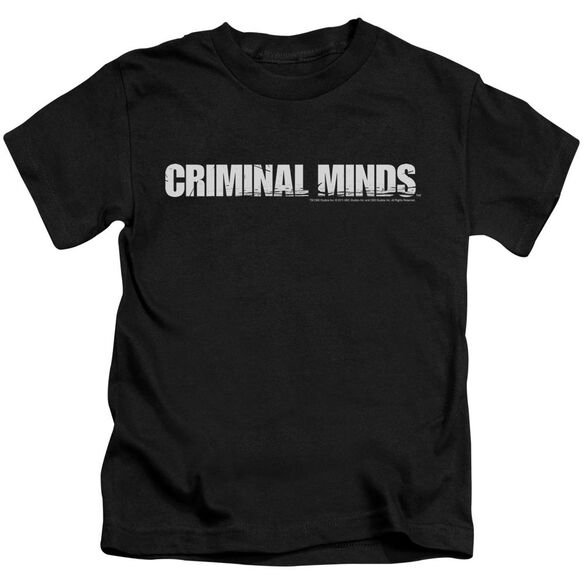 Criminal Minds Logo Short Sleeve Juvenile Black T-Shirt