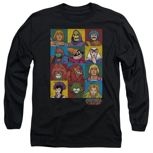 Masters Of The Universe Character Heads Long Sleeve Adult T-Shirt