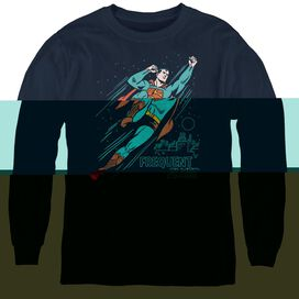Superman Frequent Flyer - Youth Long Sleeve Tee