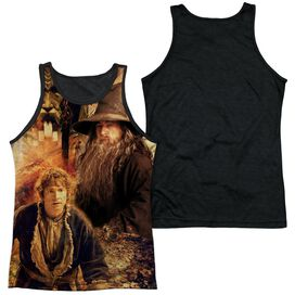 Hobbit Bilbo And Gandalf Adult Poly Tank Top Black Back