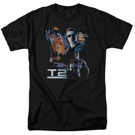 Terminator 2 Battle Short Sleeve Adult Black T-Shirt