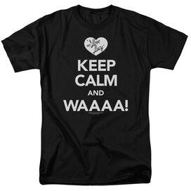 I Love Lucy Keep Calm Waaa Short Sleeve Adult T-Shirt