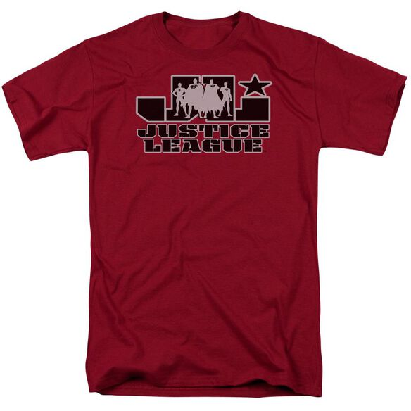 Jla Jla Logo Short Sleeve Adult T-Shirt