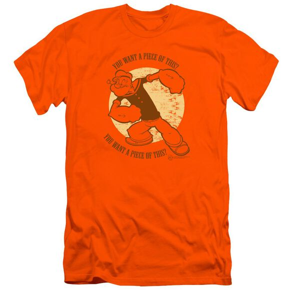 Popeye You Want A Piece Of This Premuim Canvas Adult Slim Fit
