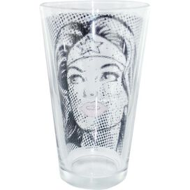 Wonder Woman Halftone Face Pint Glass