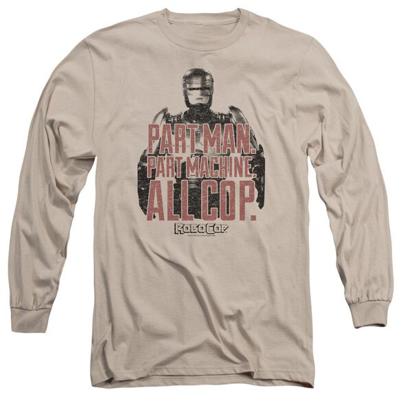 Robocop Vintage Tagline Long Sleeve Adult T-Shirt