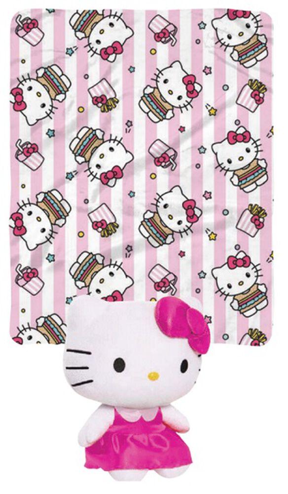 Hello Kitty Pink Hugger Pillow/Blanket Set