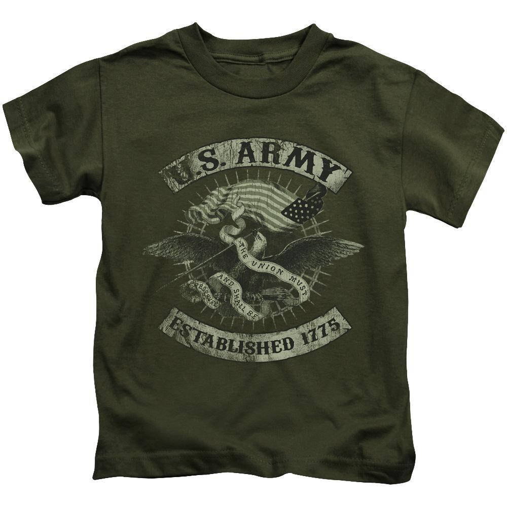 Army Union Eagle Short Sleeve Juvenile Military Green T-Shirt ... 04b583ffe50