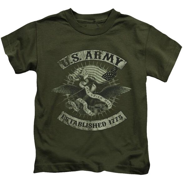 Army Union Eagle Short Sleeve Juvenile Military Green T-Shirt