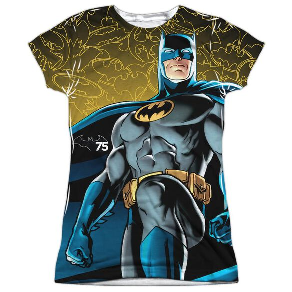 Batman 75 Glow Short Sleeve Junior Poly Crew T-Shirt