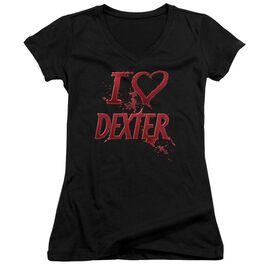 Dexter I Heart Dexter Junior V Neck T-Shirt