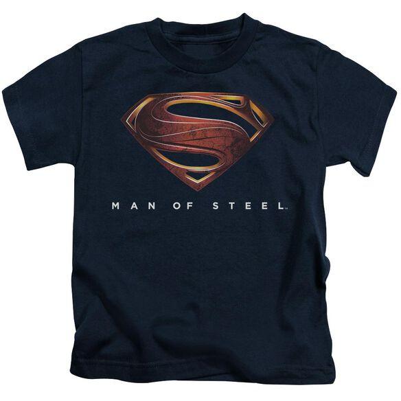 Man Of Steel Mos New Logo Short Sleeve Juvenile Navy Md T-Shirt