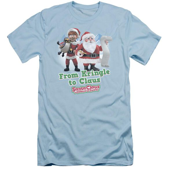 Santa Claus Is Comin To Town Kringle To Claus Short Sleeve Adult Light T-Shirt