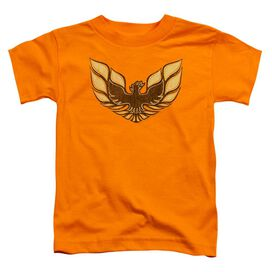 Pontiac Ross 1975 Bird Short Sleeve Toddler Tee Orange T-Shirt