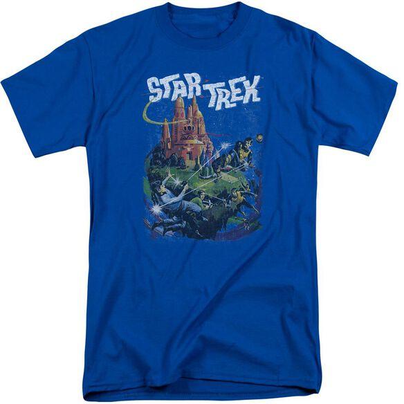 Star Trek Vulcan Battle Short Sleeve Adult Tall Royal T-Shirt