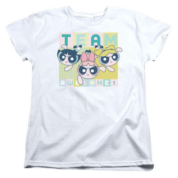 Powerpuff Girls Awesome Block Short Sleeve Womens Tee T-Shirt
