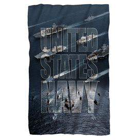 Navy Fleet Fleece Blanket