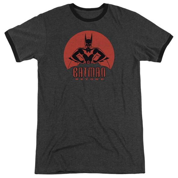 Batman Beyond Stand Tall Adult Heather Ringer Charcoal