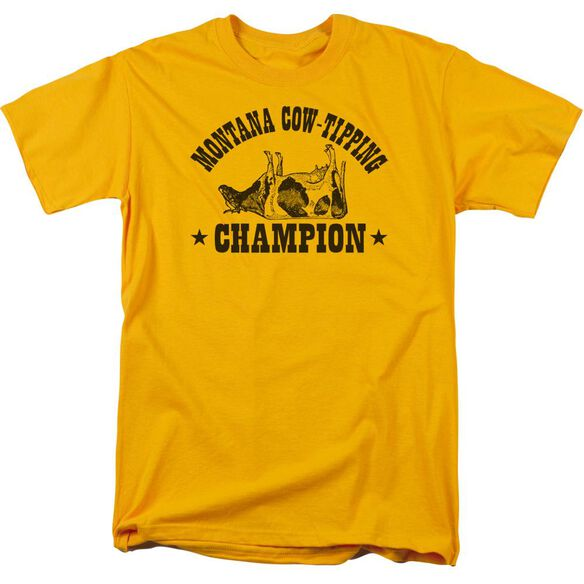 Cow Tipping Champion Short Sleeve Adult T-Shirt