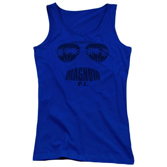 Magnum Pi Face It Juniors Tank Top Royal