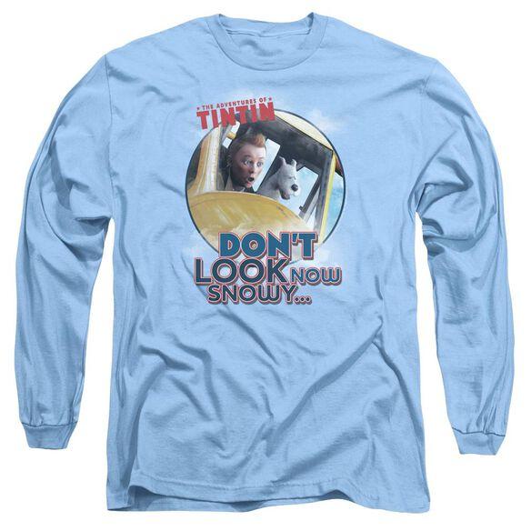 Tintin Dont Look Now Long Sleeve Adult Carolina T-Shirt