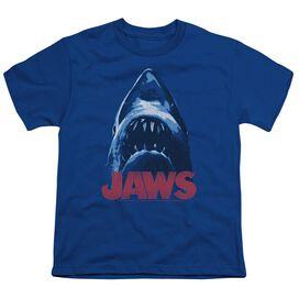 Jaws From Below Short Sleeve Youth Royal T-Shirt