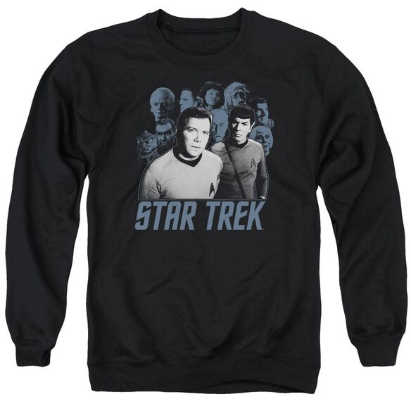 Star Trek Kirk Spock And Company Adult Crewneck Sweatshirt
