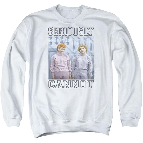 I Love Lucy Seriously Cannot Adult Crewneck Sweatshirt