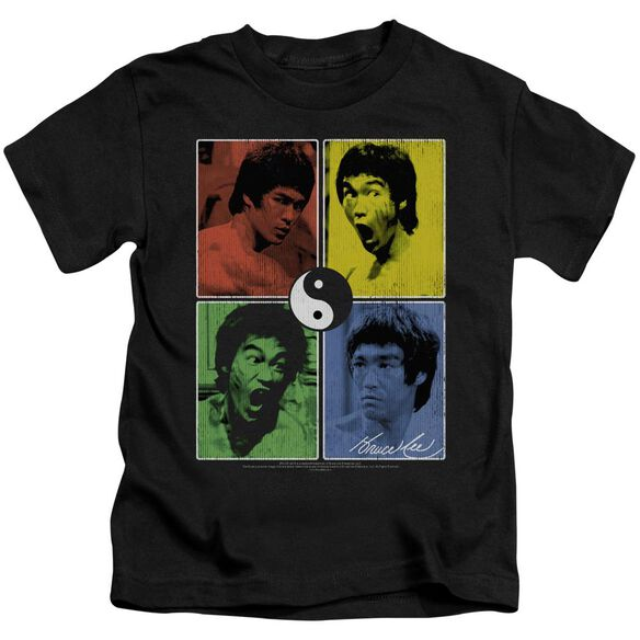 Bruce Lee Enter Color Block Short Sleeve Juvenile Black Md T-Shirt