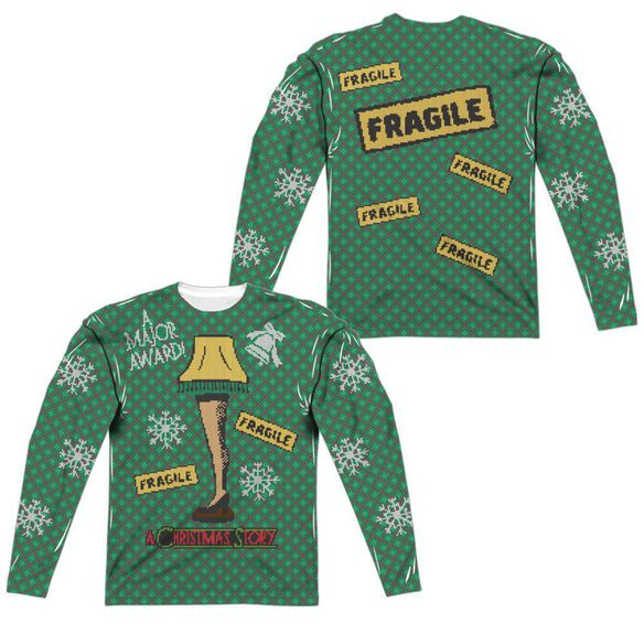 a christmas story a christmas story sweater front back print long sleeve adult poly