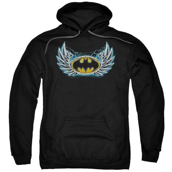 Batman Steel Wings Logo Adult Pull Over Hoodie