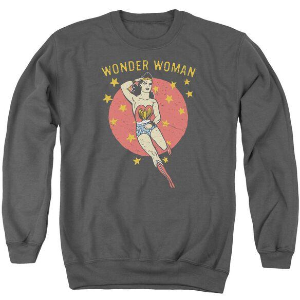 Dc Wonder Circle Adult Crewneck Sweatshirt