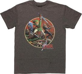 Zelda Ocarina of Time Link Battle T-Shirt