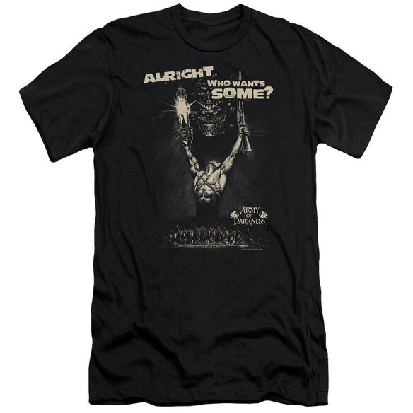 Army Of Darkness Want Some Premuim Canvas Adult Slim Fit