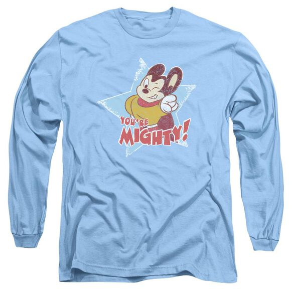 Mighty Mouse Youre Mighty Long Sleeve Adult Carolina T-Shirt