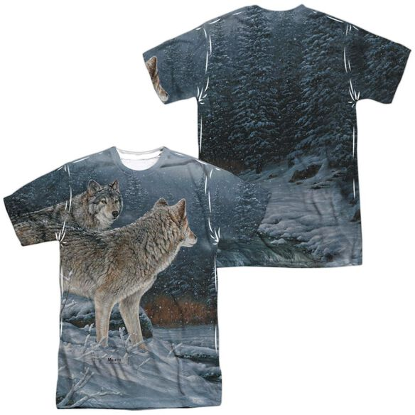 Wild Wings Twilight Hunters (Front Back Print) Short Sleeve Adult Poly Crew T-Shirt