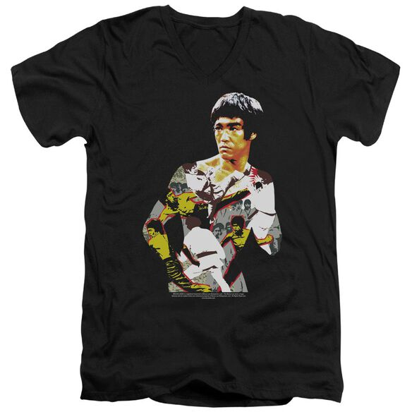 Bruce Lee Body Of Action Short Sleeve Adult V Neck T-Shirt
