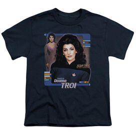 Star Trek Deanna Troi Short Sleeve Youth T-Shirt