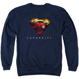 Supergirl Logo Glare Adult Crewneck Sweatshirt