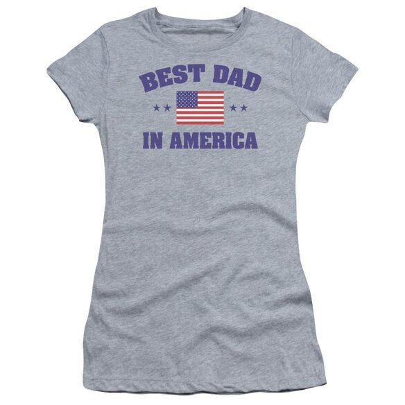 Best Dad Short Sleeve Junior Sheer Athletic T-Shirt