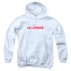 Izombie Splatter Logo Youth Pull Over Hoodie