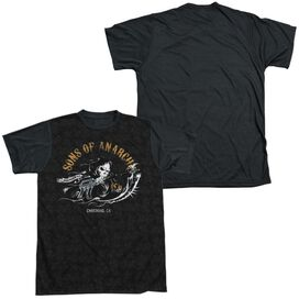 Sons Of Anarchy Reaper Repeat Short Sleeve Adult Front Black Back T-Shirt