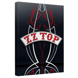 Zz Top Decal Logo Canvas Wall Art With Back Board