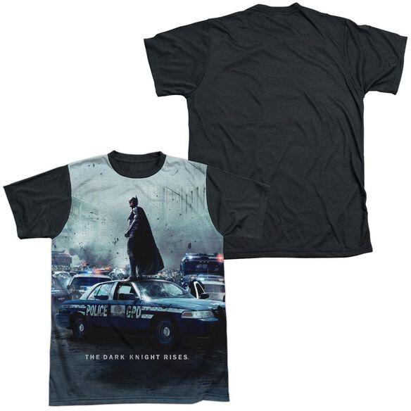 Dark Knight Rises Standoff Short Sleeve Adult Front Black Back T-Shirt