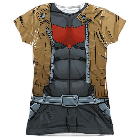 Batman Red Hood Uniform Short Sleeve Junior Poly Crew T-Shirt