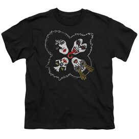 Kiss Rock And Roll Heads Short Sleeve Youth T-Shirt