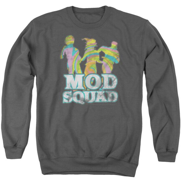 Mod Squad Mod Squad Run Groovy Adult Crewneck Sweatshirt