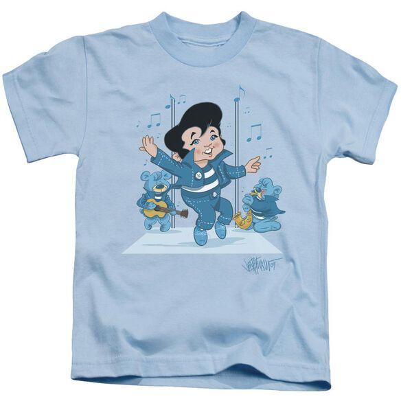 Elvis Jailhouse Rocker Short Sleeve Juvenile Light Blue T-Shirt