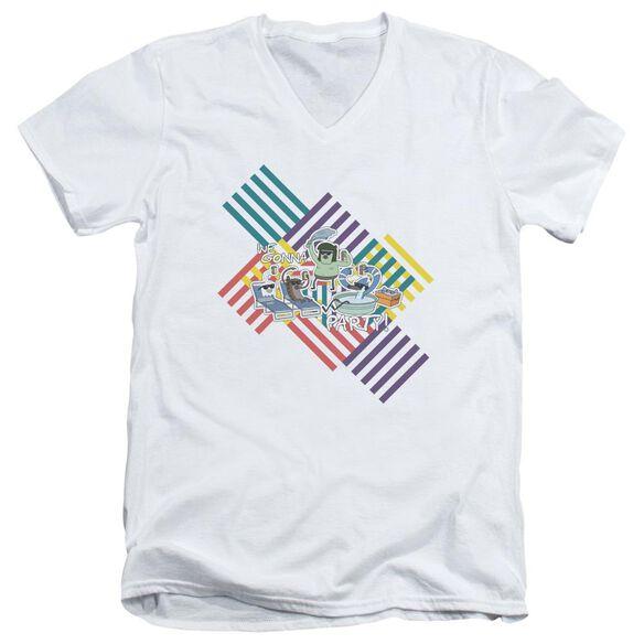 Regular Show We Gonna Party Short Sleeve Adult V Neck T-Shirt
